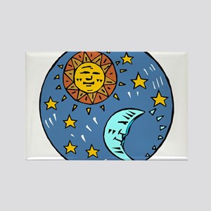 SUN, MOON & some STARS Rectangle Magnet
