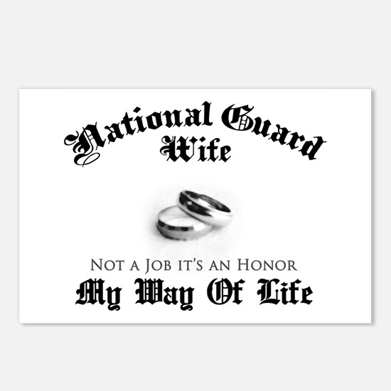 USNG Wife: It's an Honor Postcards (Package of 8)