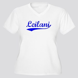 Vintage Leilani (Blue) Women's Plus Size V-Neck T-
