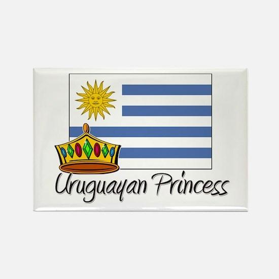 Uruguayan Princess Rectangle Magnet
