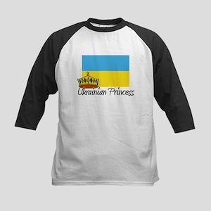 Ukrainian Princess Kids Baseball Jersey