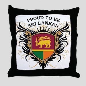 Proud to be Sri Lankan Throw Pillow