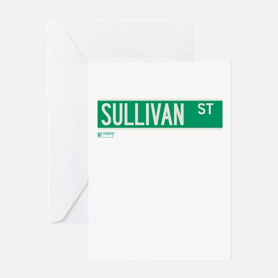 Sullivan Street in NY Greeting Card