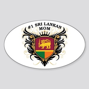 Number One Sri Lankan Mom Oval Sticker