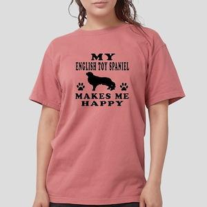 My English Toy Spaniel makes me happy T-Shirt