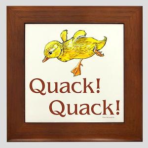 Quack! Quack! Framed Tile