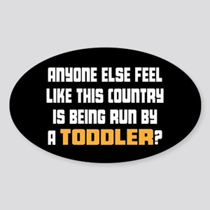 Toddler Trump Sticker (Oval)