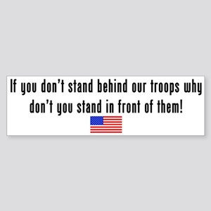 Patriotic: Stand Behind Our Troops Sticker (Bumper