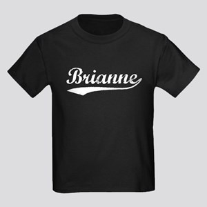 Vintage Brianne (Silver) Kids Dark T-Shirt