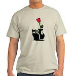 Black Cat and Rose Light T-Shirt