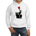 Black Cat and Rose Hooded Sweatshirt