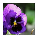 Purple Pansy Tile Coaster