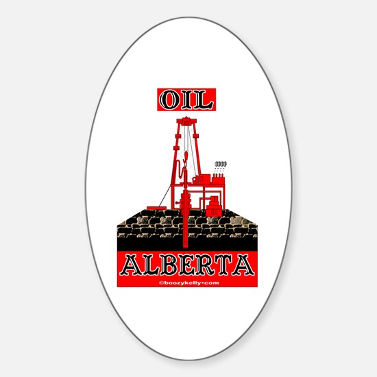Oil Alberta Oval Decal