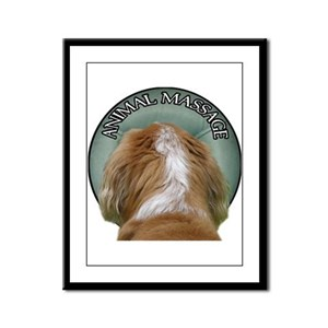 Animal Massage Framed Panel Print