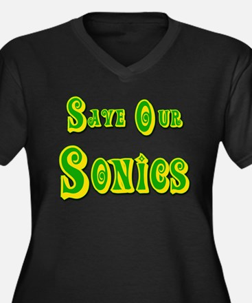 Save Our Seattle Sonics Women's Plus Size V-Neck D