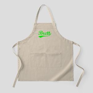 Vintage Brett (Green) BBQ Apron