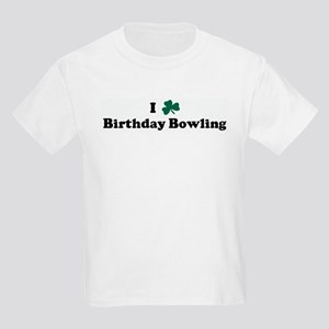 I Shamrock Birthday Bowling Kids Light T-Shirt