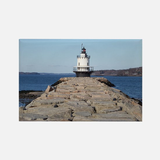 Scenic Spring Point Lighthous Rectangle Magnet