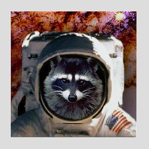 Raccoon In Space! Tile Coaster