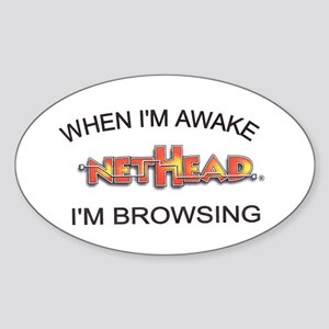 NetHead Browsing Oval Sticker