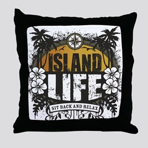 Island Life Throw Pillow