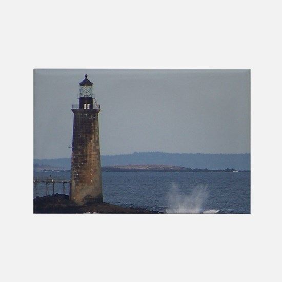 Scenic Ram Island Lighthouse Rectangle Magnet