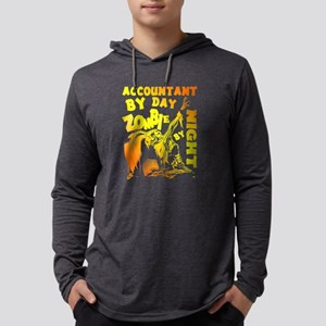 Accountant By Day Zombie By Ni Long Sleeve T-Shirt
