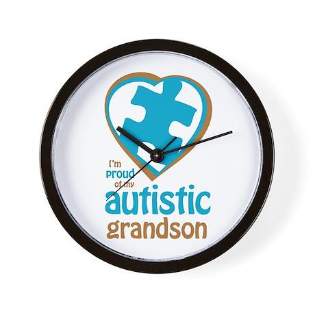 Proud of Grandson (3BB) Wall Clock