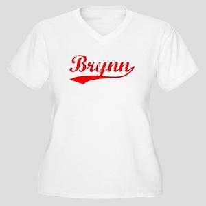 Vintage Brynn (Red) Women's Plus Size V-Neck T-Shi