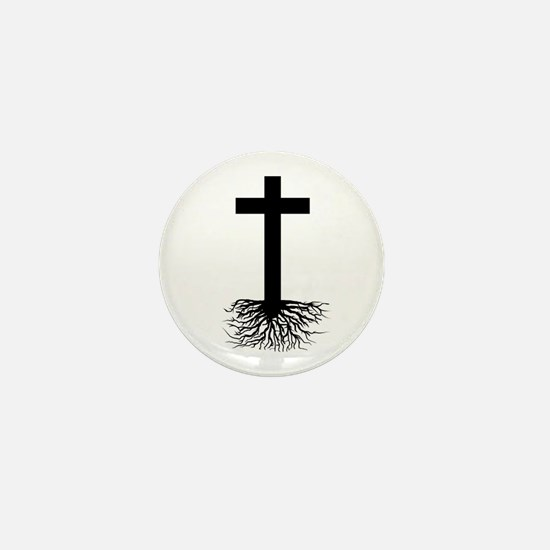 Rooted In Christ Mini Button