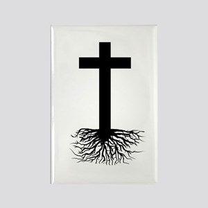 Rooted In Christ Rectangle Magnet