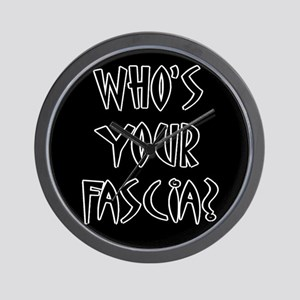 Who's Your Fascia Wall Clock