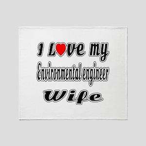 I Love My ENGINEERING TECHNICIAN Wif Throw Blanket