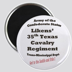 Likens 35th Texas Cavalry CSA Magnet