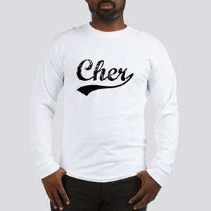 Vintage Cher (Black) Long Sleeve T-Shirt