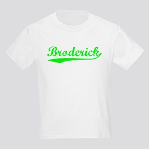 Vintage Broderick (Green) Kids Light T-Shirt