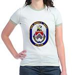 USS JOHN L. HALL Jr. Ringer T-Shirt