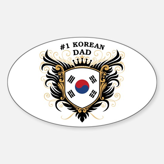 Number One Korean Dad Oval Decal
