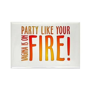 Party Like Your Vagina is on Fire Rectangle Magnet