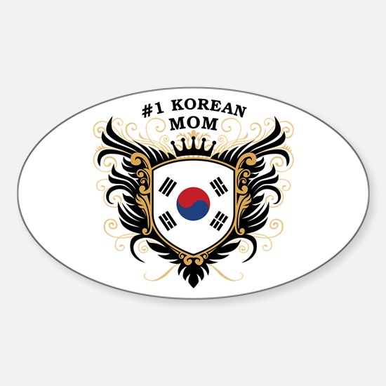 Number One Korean Mom Oval Decal
