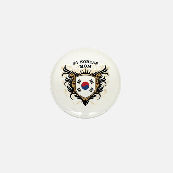 Number One Korean Mom Mini Button