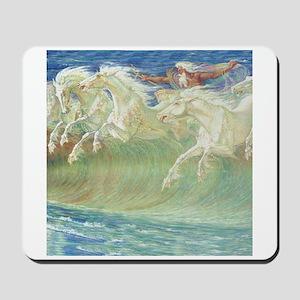 NEPTUNE'S HORSES Mousepad