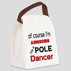 I am a Pole dancer Canvas Lunch Bag