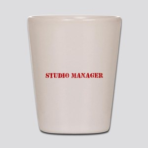 Studio Manager Red Stencil Design Shot Glass