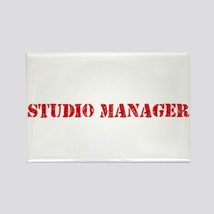 Studio Manager Red Stencil Design Magnets