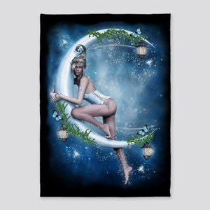 Female Elf Moon 5'x7'Area Rug