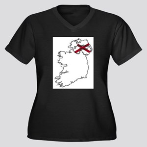 Northern Ireland Flag In Map Plus Size T-Shirt