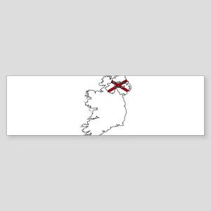 Northern Ireland Flag In Map Bumper Sticker