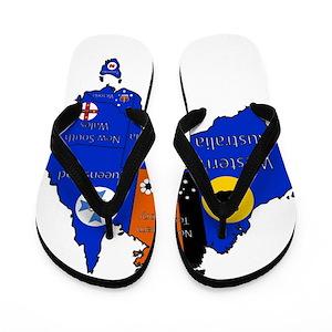 a65c499177e6 Western Australia Flip Flops - CafePress
