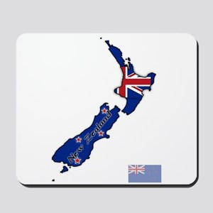 New Zealand Text And Flag In Map Mousepad